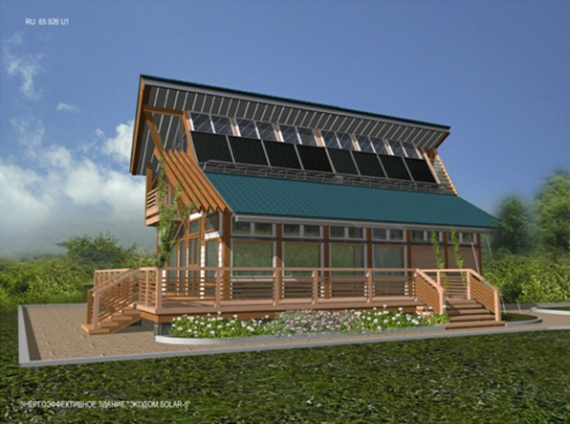 Энергоэффективный дом с солнечным отоплением