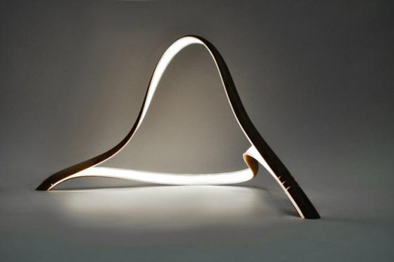 Скульптурные лампы из дерева
